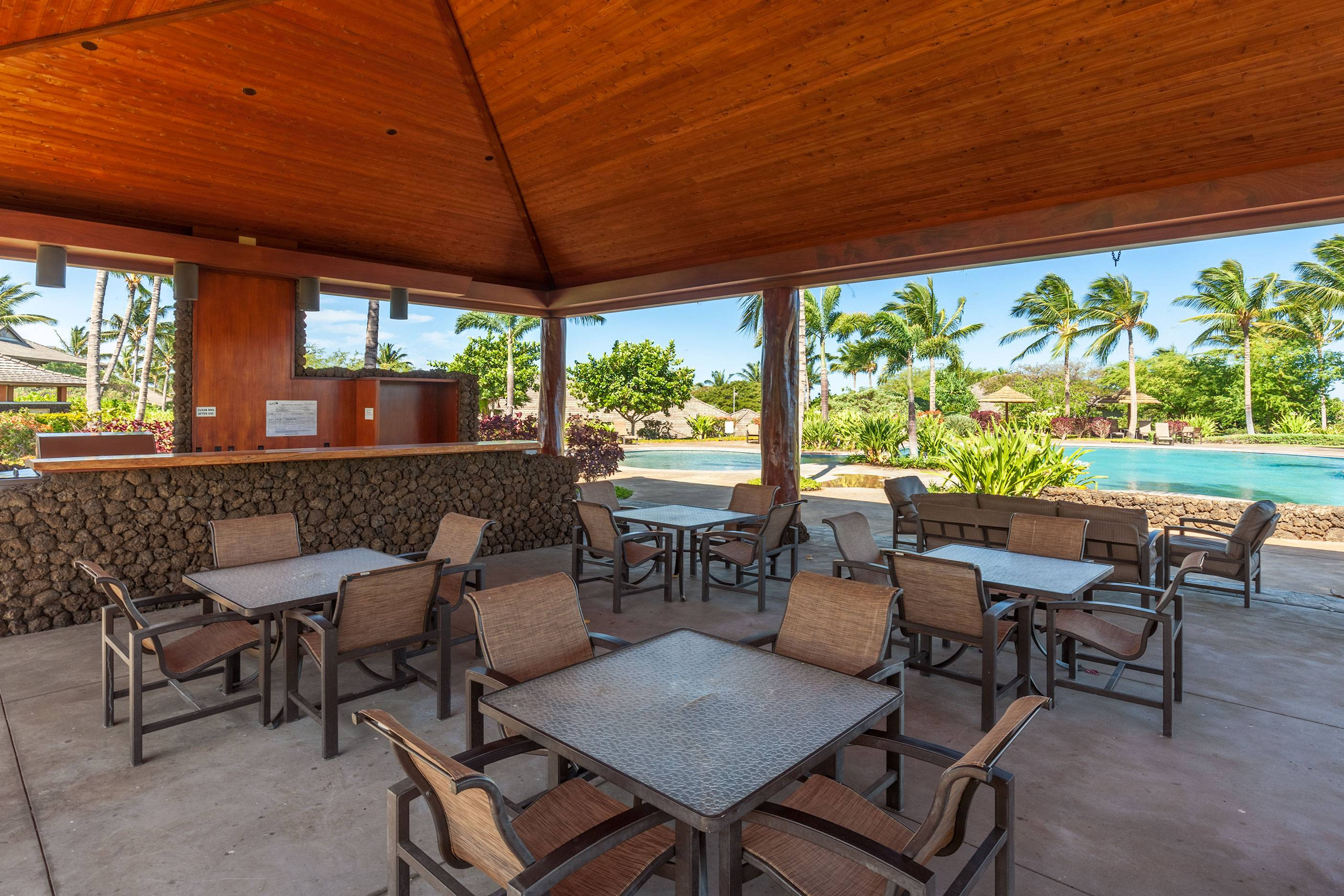 BBQ and Pool area at KaMilo at Mauna Lani Resort