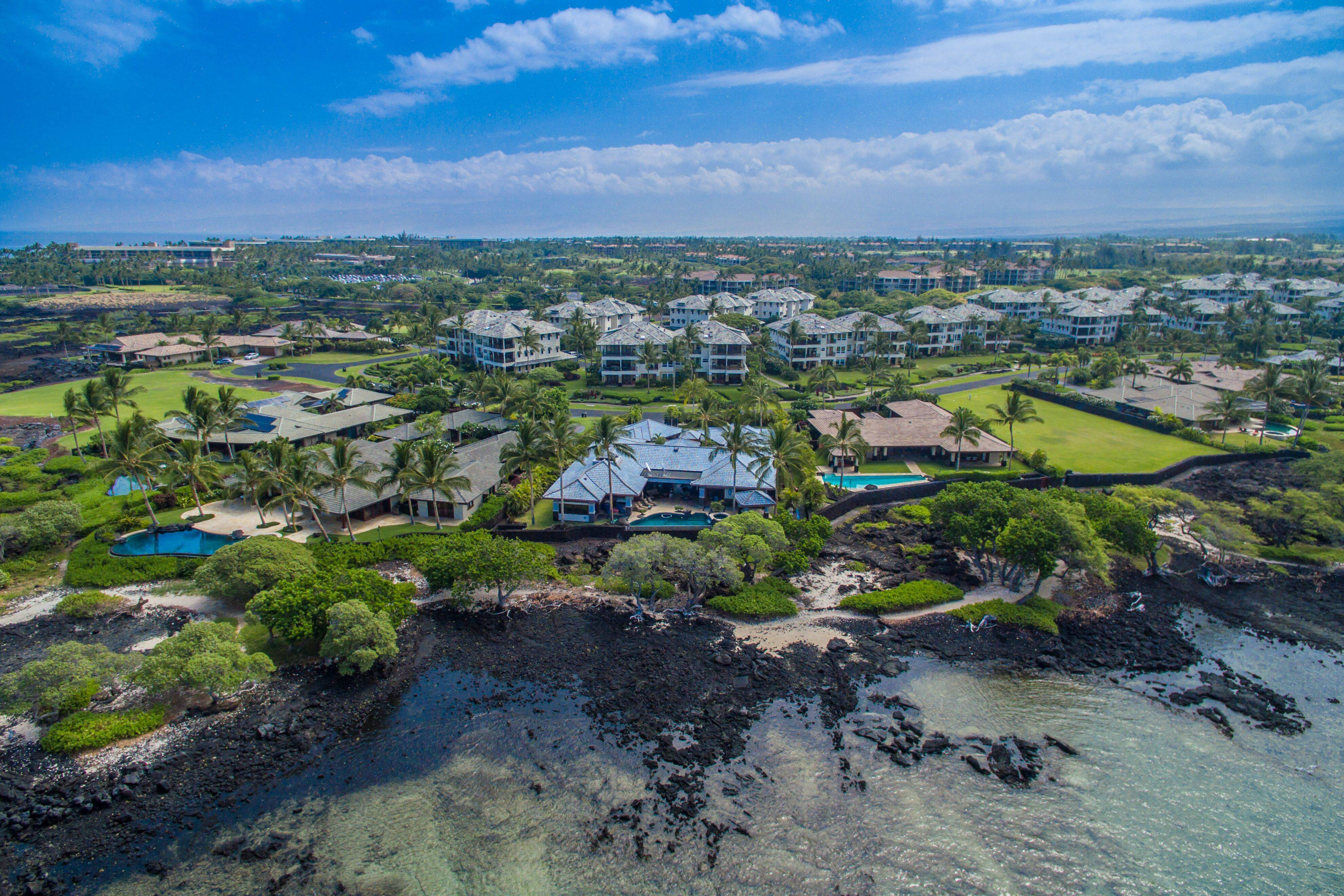 Overhead view of Waikoloa Beach Resort