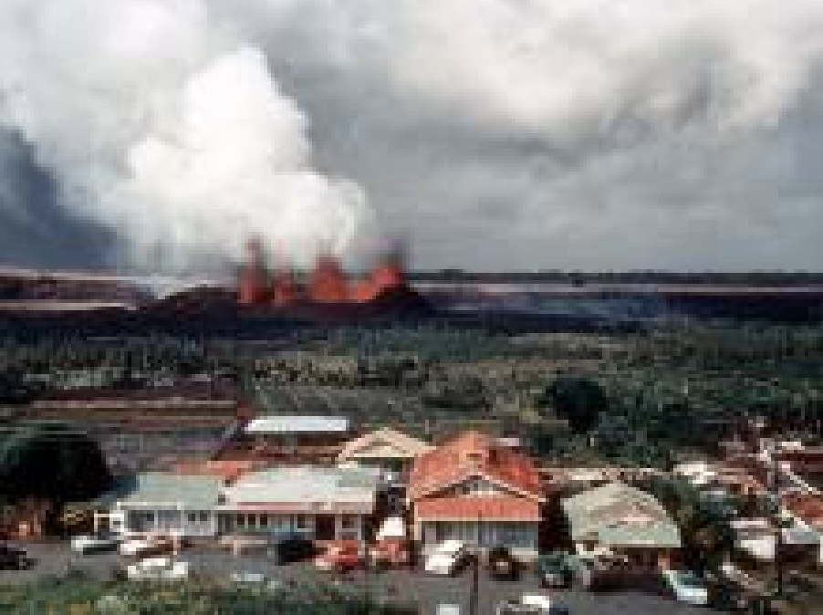 Kapoho volcanic eruption.
