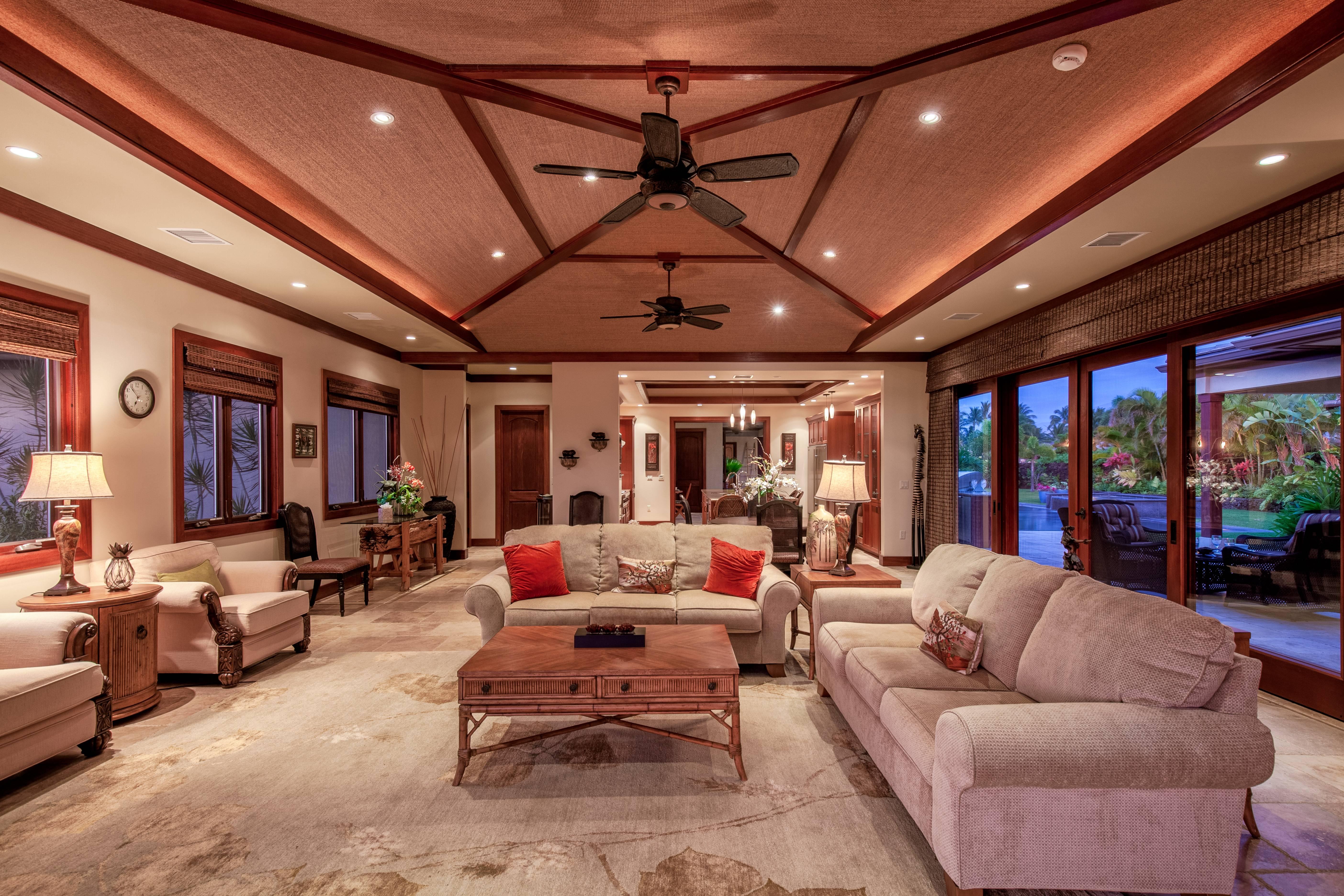 Indoor outdoor living at Champion Ridge on the Big Island