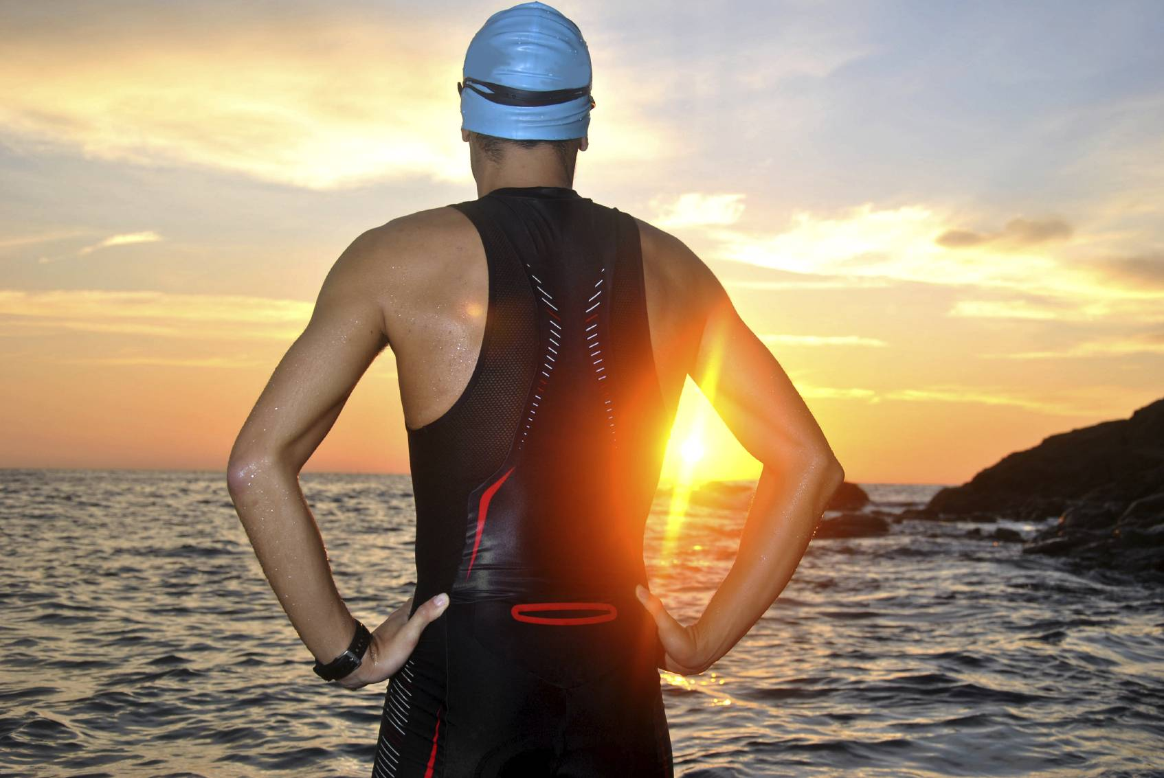 Ironman swimmer