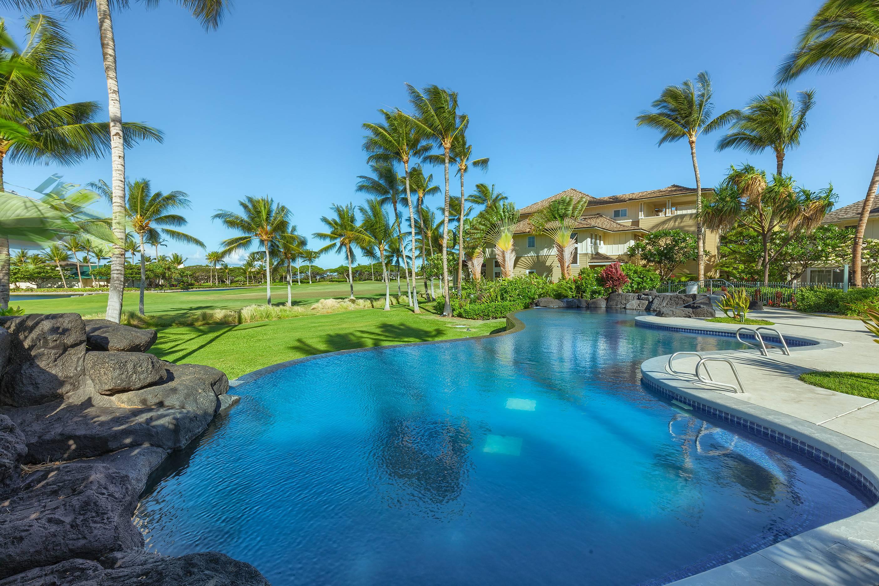 Fairway Villas pool at Waikoloa Resort