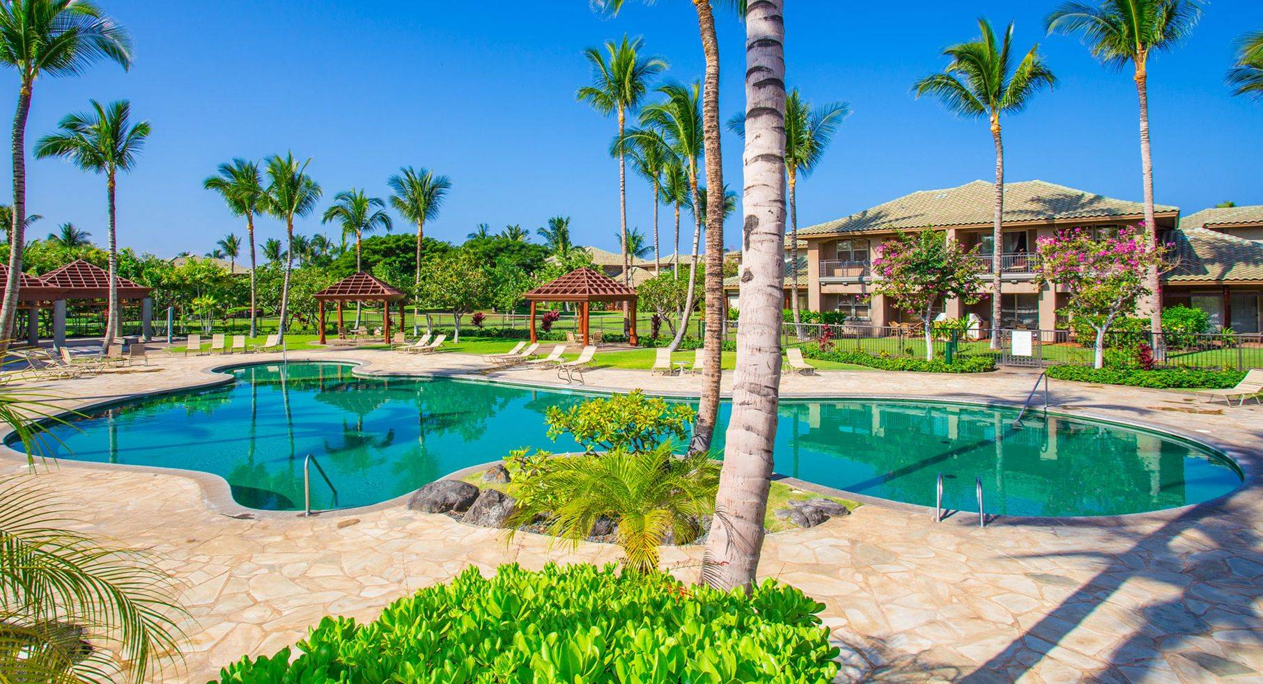 Private pool at Fairways at Mauna Lani