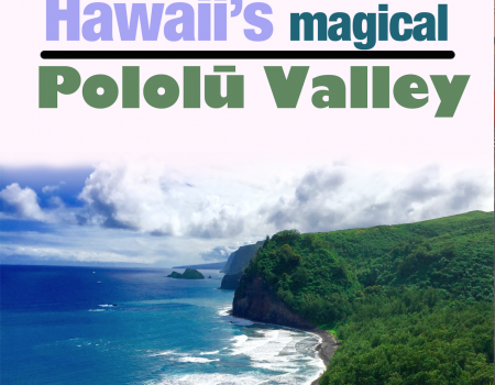 Hawaii's best black sand beach - Pololu Valley.