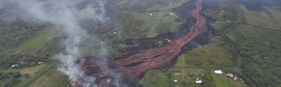 May 2018 Hawaiian Eruption from the air.