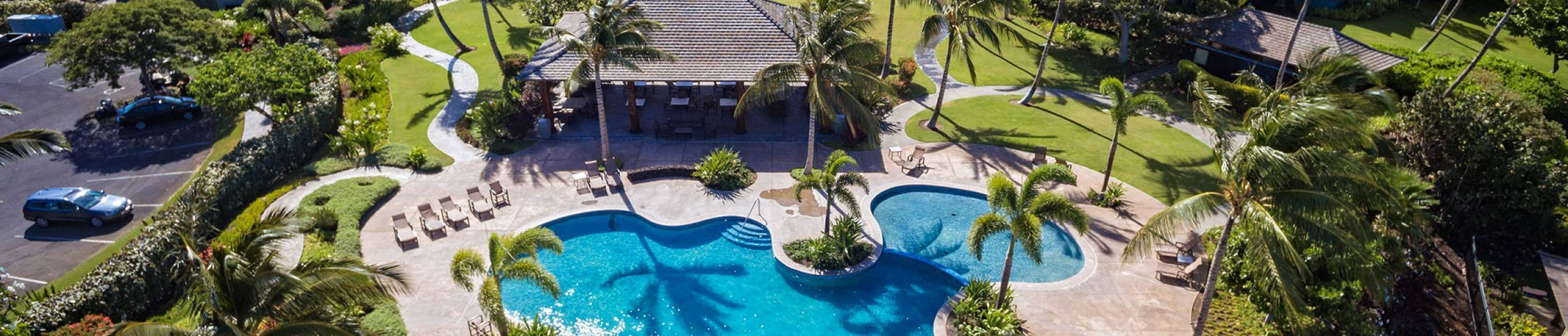 Private pool at KaMilo at Mauna Lani Resort