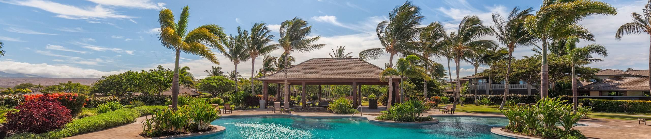 Family pool at KaMilo at Mauna Lani Resort on the Big Island