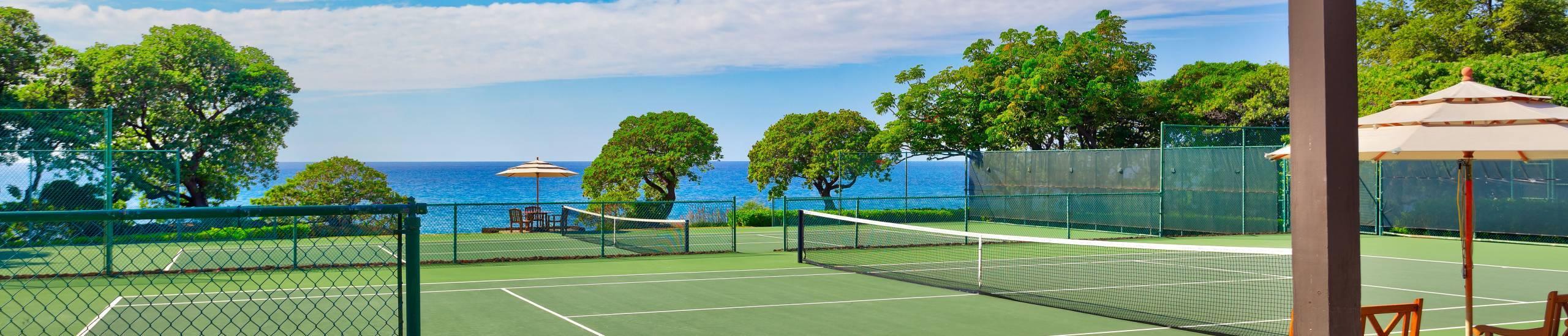 Mauna Kea Resort Tennis Courts with Ocean View