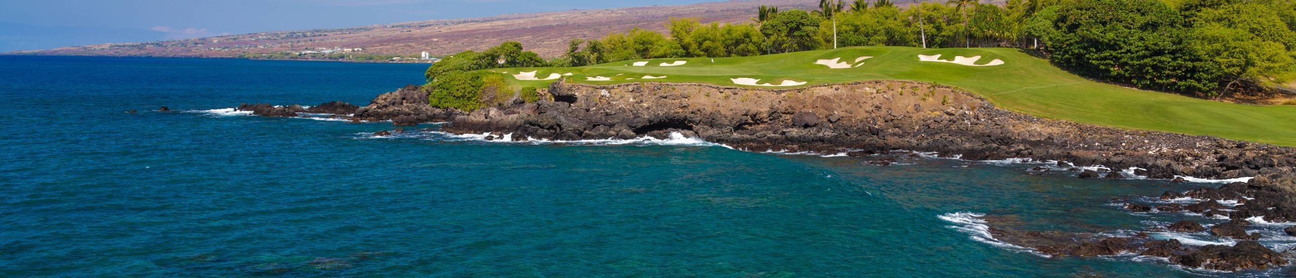 Mauna Kea Golf Course hole from the ocean