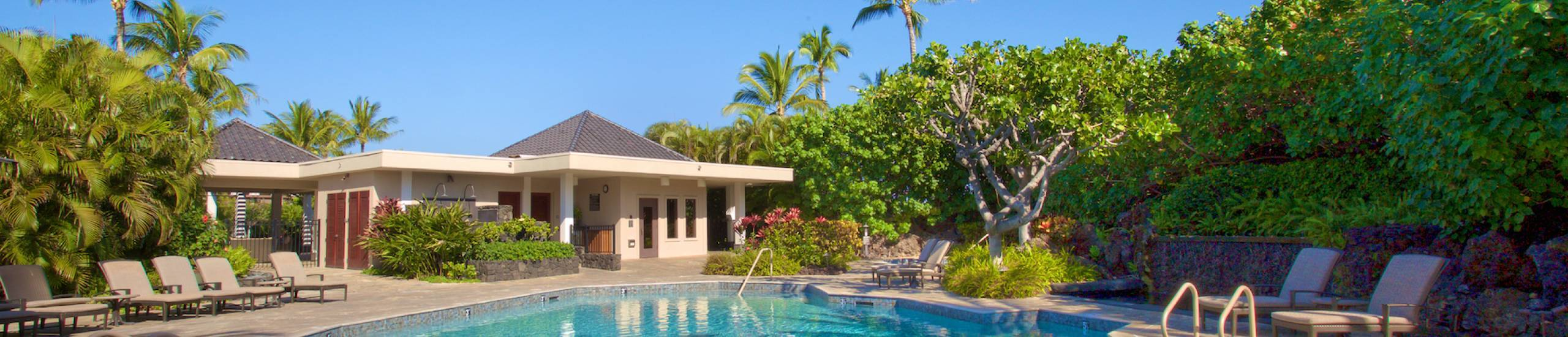 Tranquil community pool at Mauna Lani Point
