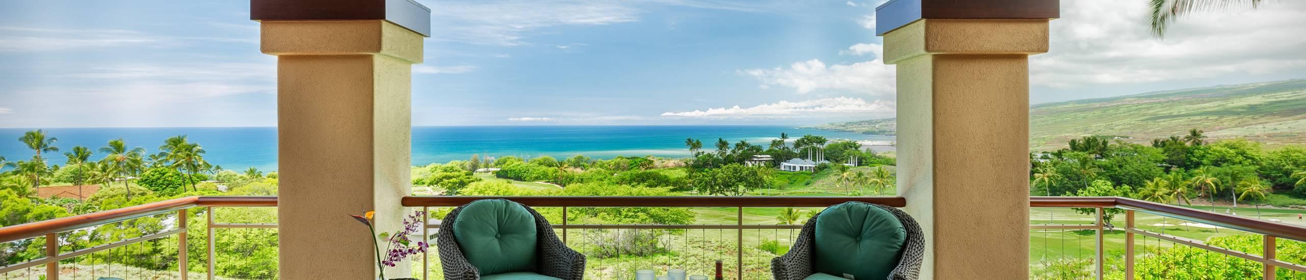 Mauna Kea Private Home Lanai View