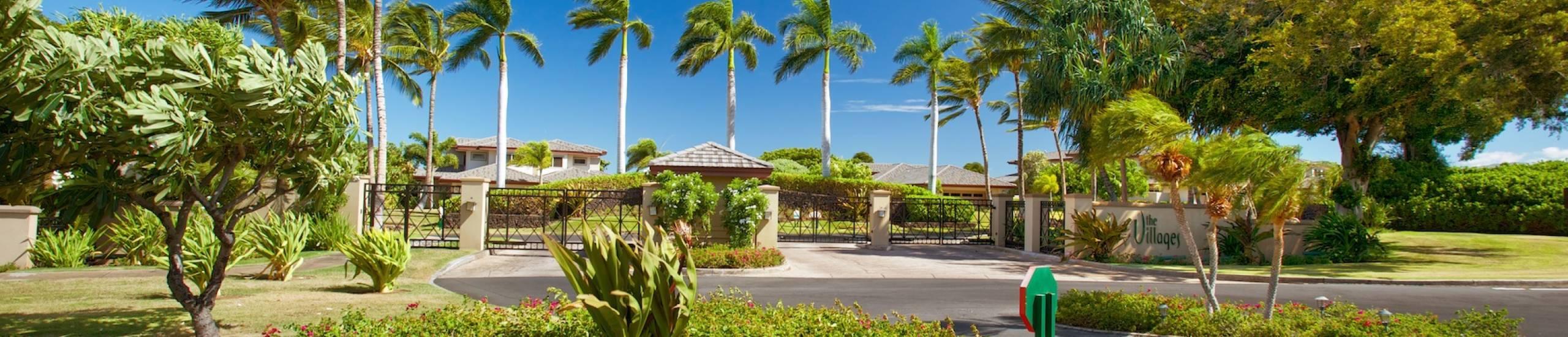 Gate entrance at the Villages at Mauna Lani