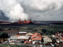 Kapoho volcanic eruption.